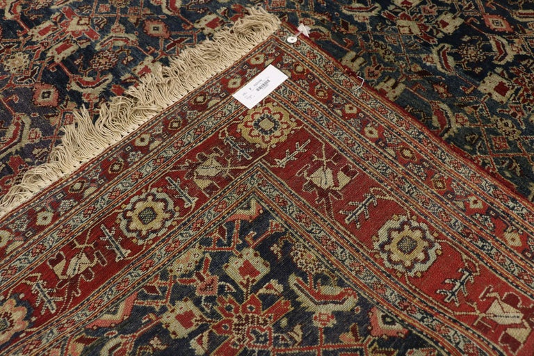 20th Century Antique Indian Area Rug with Traditional Victorian Style For Sale