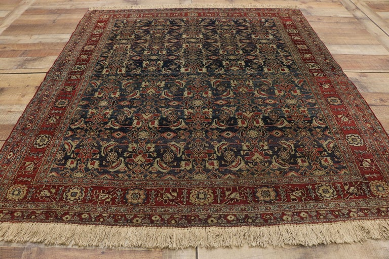 Antique Indian Area Rug with Traditional Victorian Style For Sale 1
