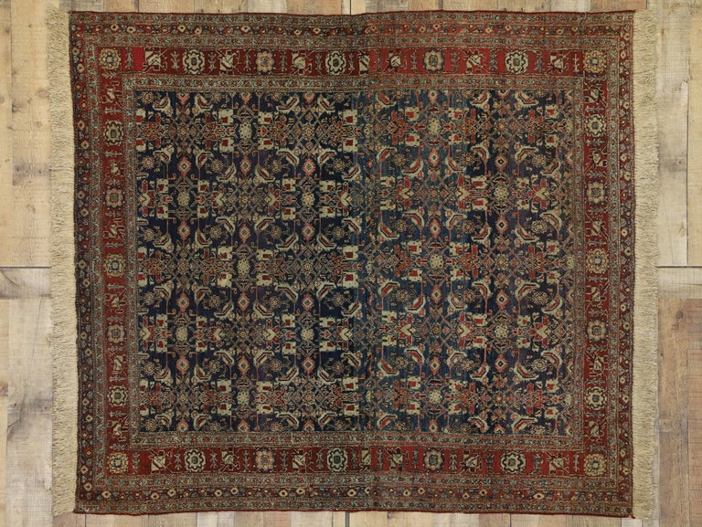 Antique Indian Area Rug with Traditional Victorian Style For Sale 2