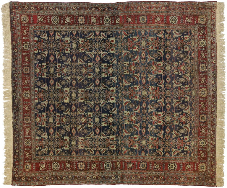 Antique Indian Area Rug with Traditional Victorian Style For Sale 3