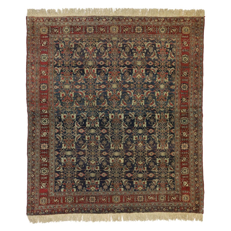 Antique Indian Area Rug with Traditional Victorian Style For Sale