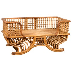 Indian Bamboo Howdah Settee Original Used for Sitting on an Elephant