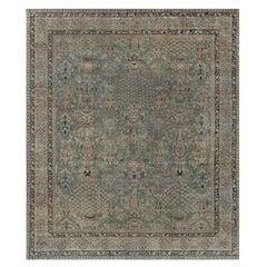 Antique Indian Botanic Wool Rug