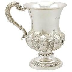 Antique Indian Colonial Silver Mug, circa 1880