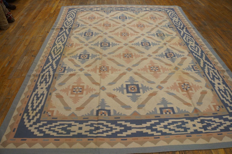Antique Indian Dhurrie rug, size: 8'8