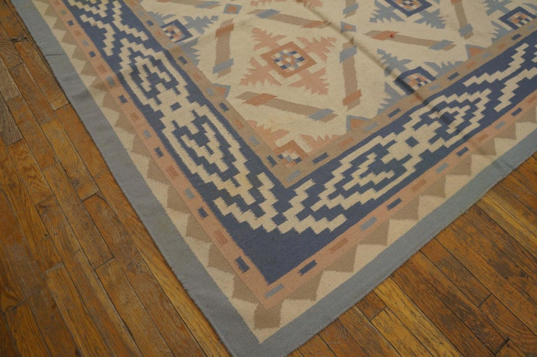 Hand-Knotted Antique Indian Dhurrie Rug For Sale