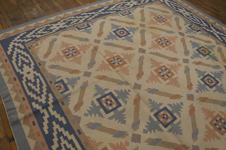 Early 20th Century Antique Indian Dhurrie Rug For Sale
