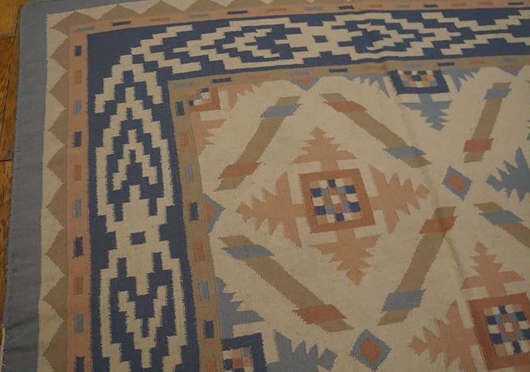 Wool Antique Indian Dhurrie Rug For Sale