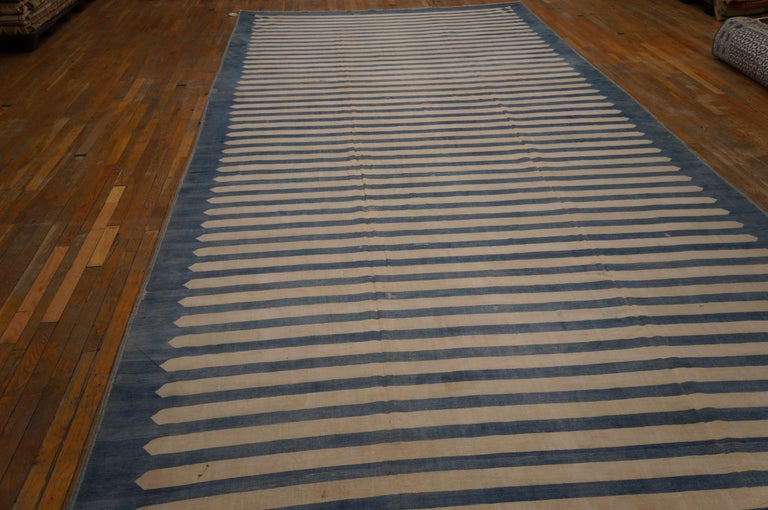 Antique Indian Dhurrie Rug For Sale 1