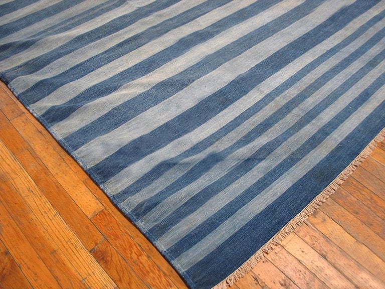 Hand-Woven Antique Indian Dhurrie Rug For Sale