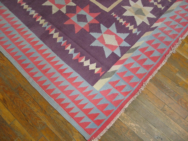 Antique Indian Dhurrie Rug For Sale 4