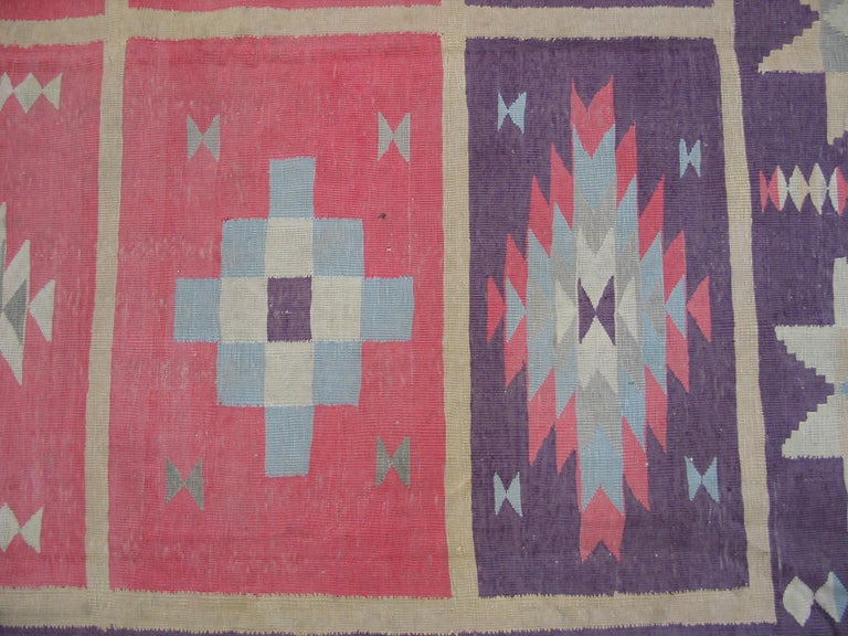 Cotton Antique Indian Dhurrie Rug For Sale