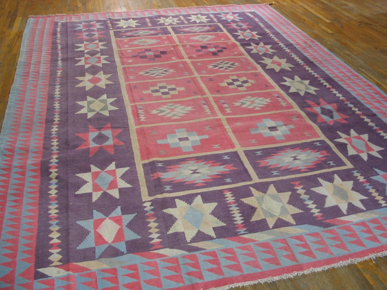 Antique Indian Dhurrie Rug For Sale 2