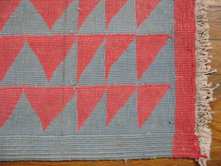 Antique Indian Dhurrie Rug For Sale 3