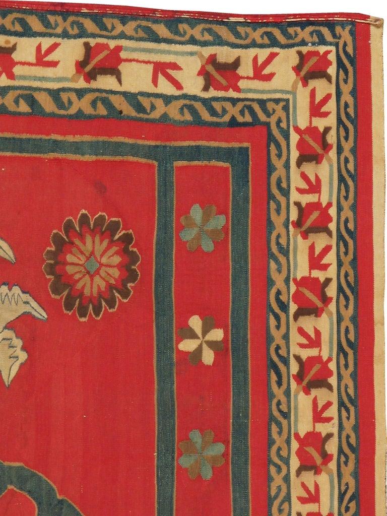 Edwardian Antique Indian Dhurrie Rug For Sale