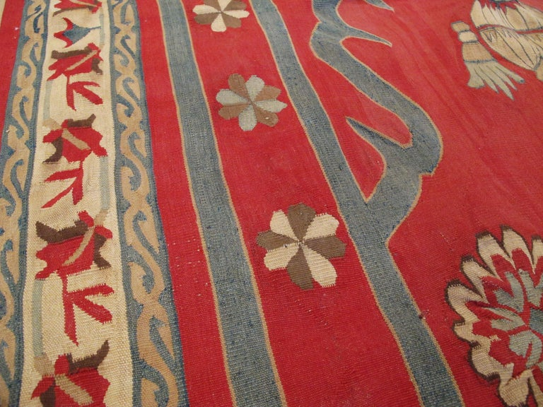 Antique Indian Dhurrie Rug In Good Condition For Sale In New York, NY