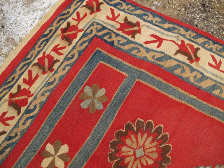 20th Century Antique Indian Dhurrie Rug For Sale