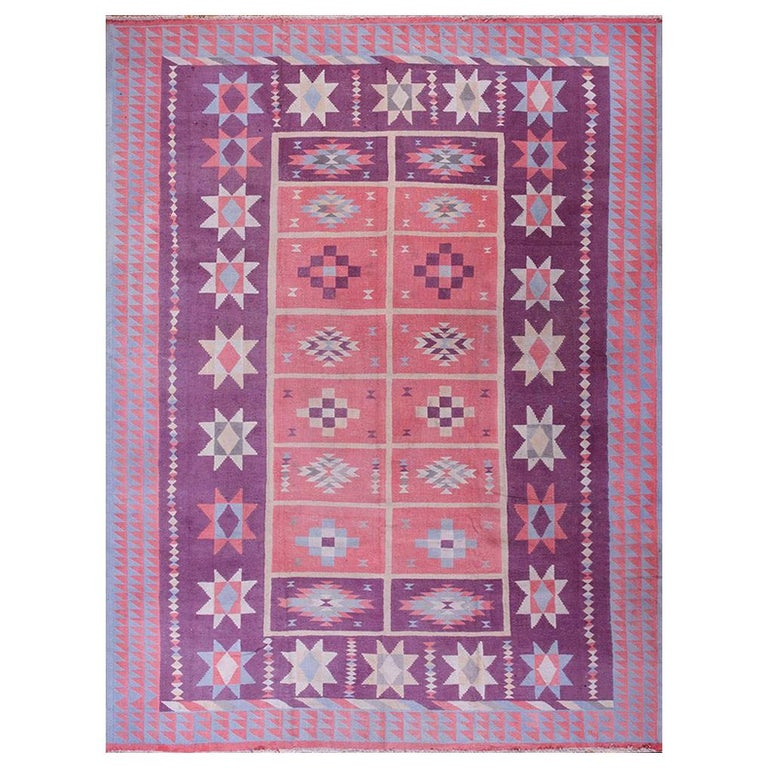 Antique Indian Dhurrie Rug For Sale
