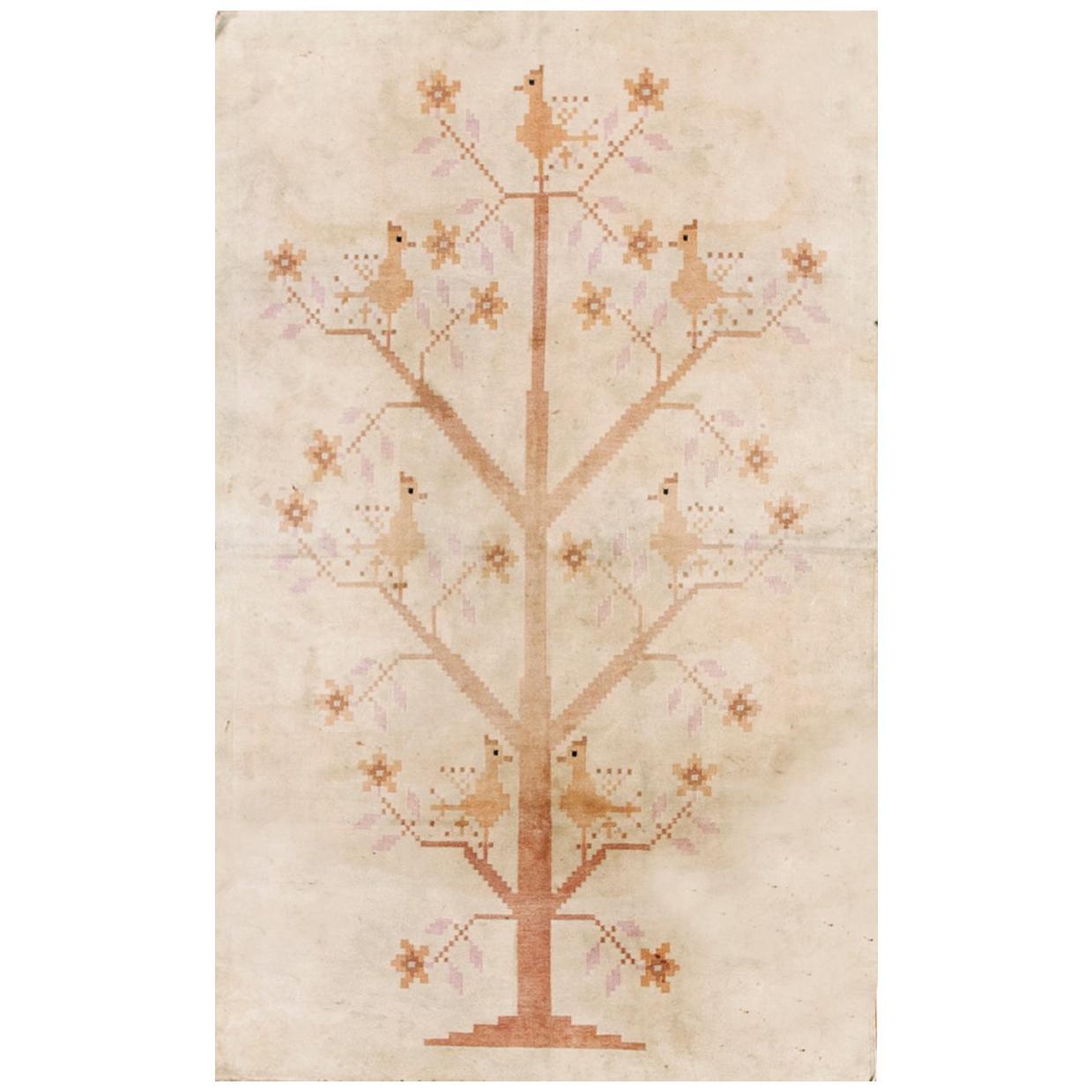 Antique Indian Cotton Dhurrie Carpet