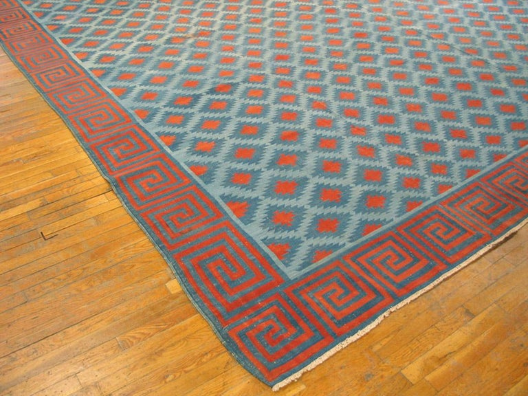 Hand-Woven Antique Indian Dhurrie Rugs For Sale