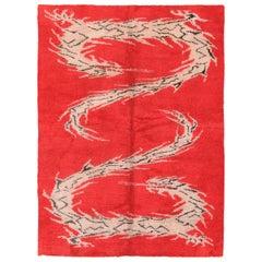 Antique Indian Dragon Design Rug