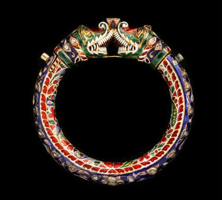 Antique Indian Enamel Bangle 8