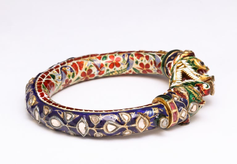 Antique Indian Enamel Bangle 1