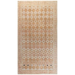 Antique Indian Hand Knotted Cotton Agra Rug