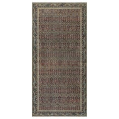 Antique Indian Hand Knotted Cotton Carpet