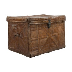 Antique Indian Leather Trunk