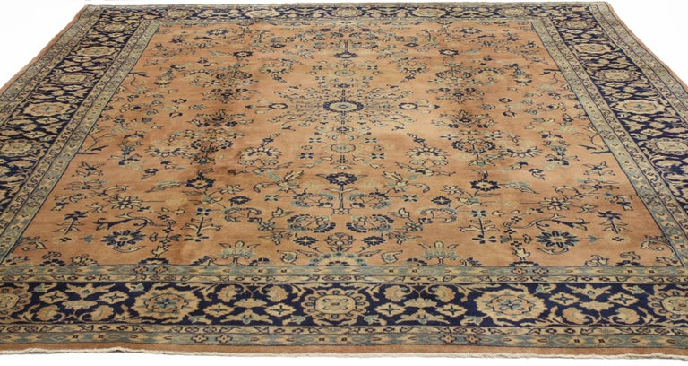 Modern Antique Indian Rug with Traditional Persian Style For Sale