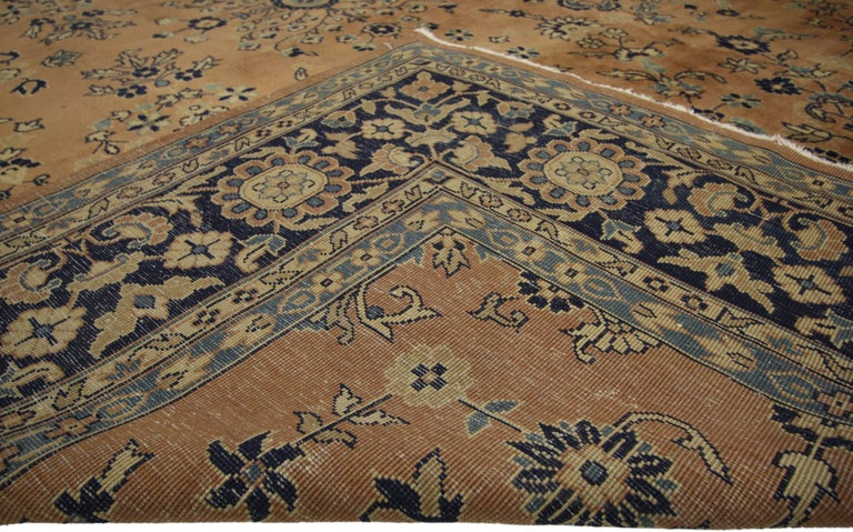 Hand-Knotted Antique Indian Rug with Traditional Persian Style For Sale
