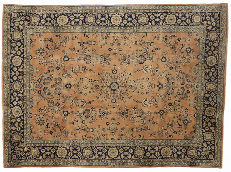 Antique Indian Rug with Traditional Persian Style In Good Condition For Sale In Dallas, TX