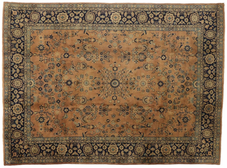 20th Century Antique Indian Rug with Traditional Persian Style For Sale