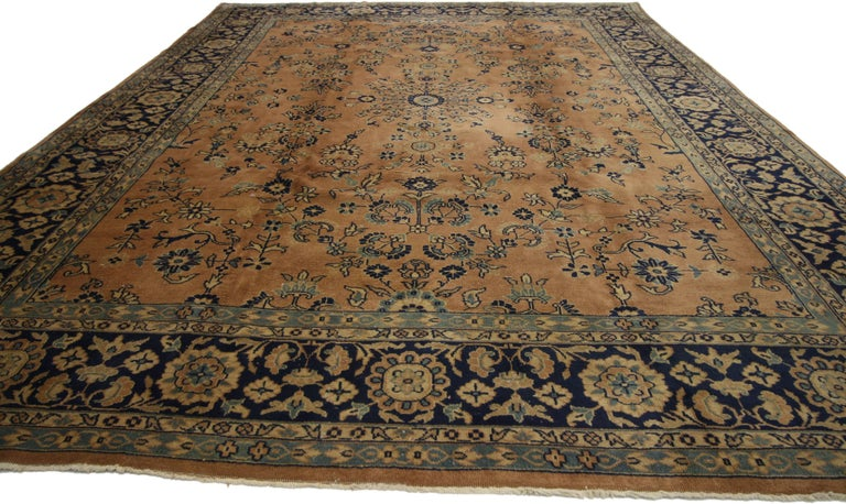 Wool Antique Indian Rug with Traditional Persian Style For Sale