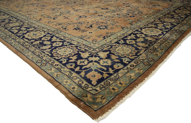 Antique Indian Rug with Traditional Persian Style For Sale 1