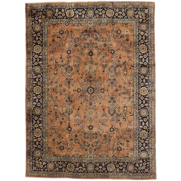 Antique Indian Rug with Traditional Persian Style For Sale