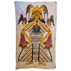 Antique Indian Shiva Cotton Tapestry
