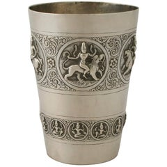 Antique Indian Silver Beaker
