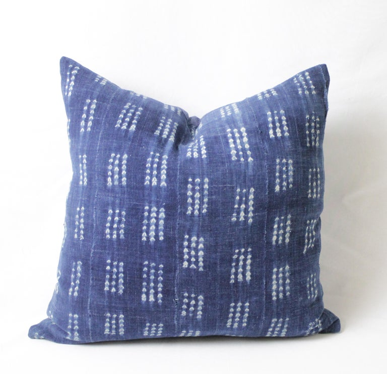 NewAntique Ca 25 cm x 47 cm Patchwork Remake of Old Zabuton Meditation Mat, Japan Indigo Silk Blue Patchwork Print Pillow