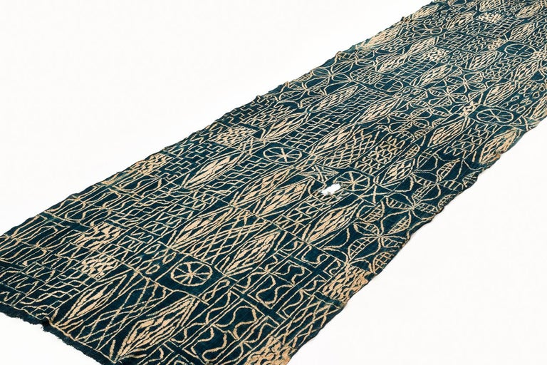 Tribal Antique Indigo Dyed Textile/Wall Hanging from Cameroon, Africa For Sale