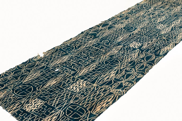 Cameroonian Antique Indigo Dyed Textile/Wall Hanging from Cameroon, Africa For Sale