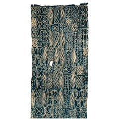 Antique Indigo Dyed Textile/Wall Hanging from Cameroon, Africa
