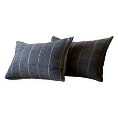 Antique Indigo Japanese Netting Pillow