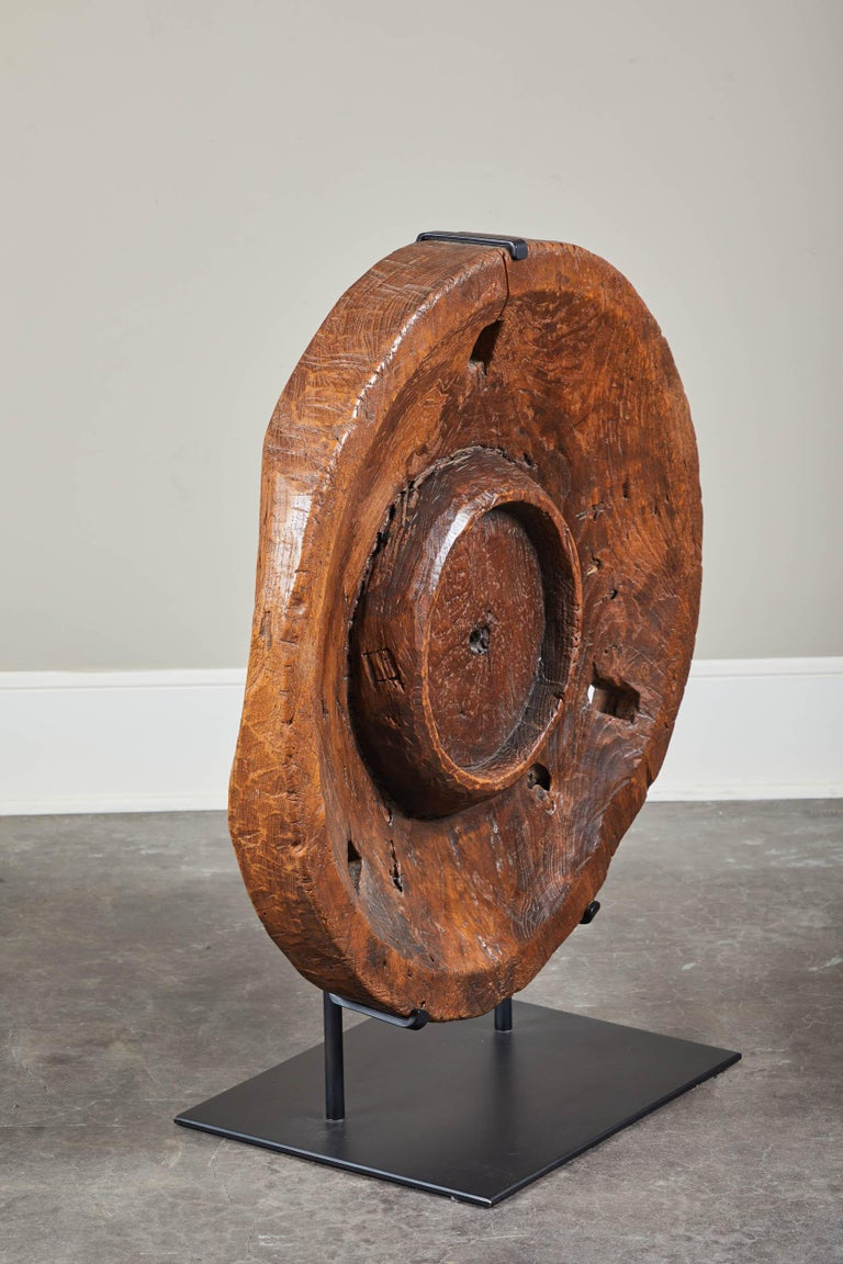20th Century Antique Indonesian Granary Grinding Piece For Sale