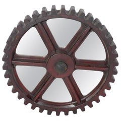 Antique Industrial Cog, Now as a Mirror