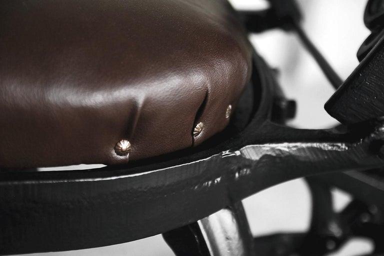Antique Industrial Empire Openwork Adjustable Barber's Chair, 1900s For Sale 13