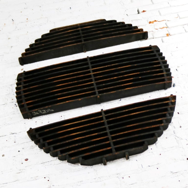 American Antique Industrial Foundry Patterns for Molds Handmade Wood Set of 3, Group 5 For Sale