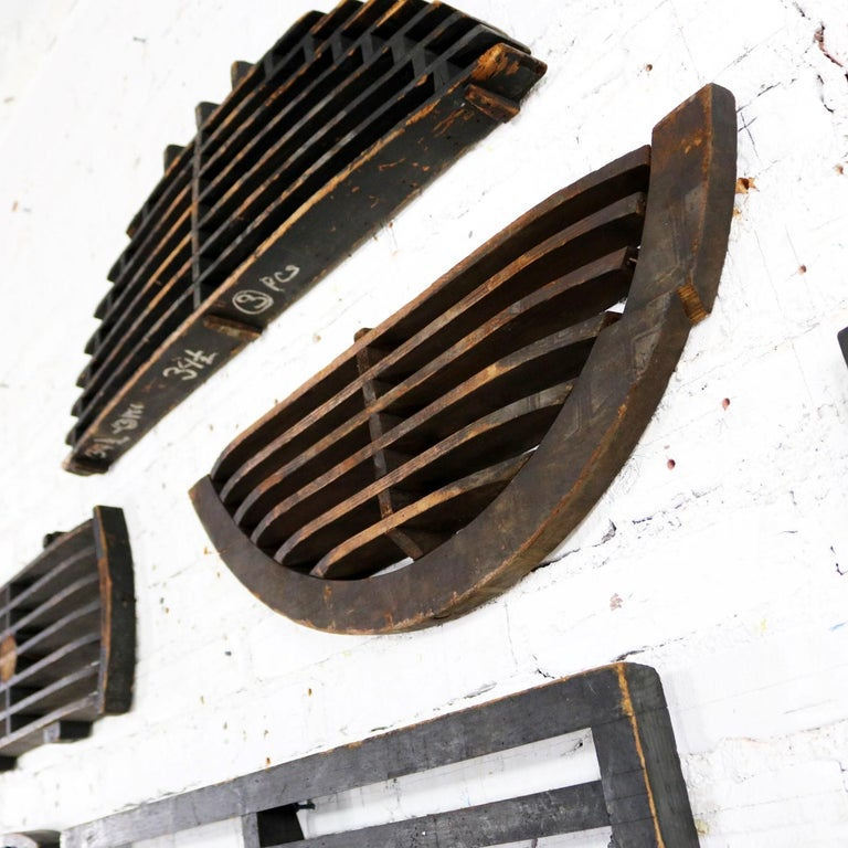Antique Industrial Foundry Patterns for Molds Handmade Wood Set of Six, Group 9 For Sale 3