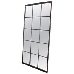 Antique Industrial Mirrored Iron Windows